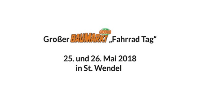 Globus Baumarkt Fahrradtag 2018 in St. Wendel